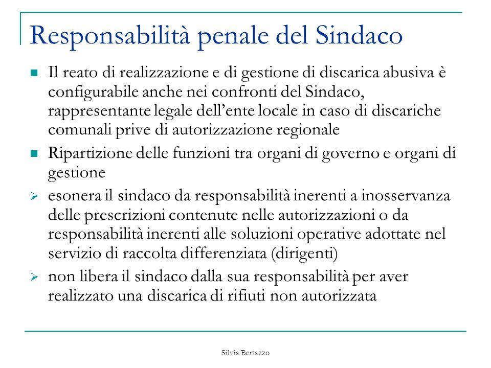 Responsabilità penale del Sindaco