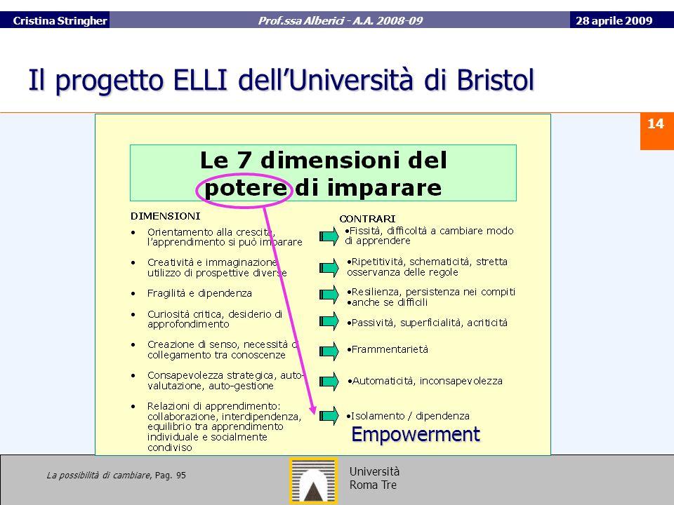 Il progetto ELLI dell'Università di Bristol