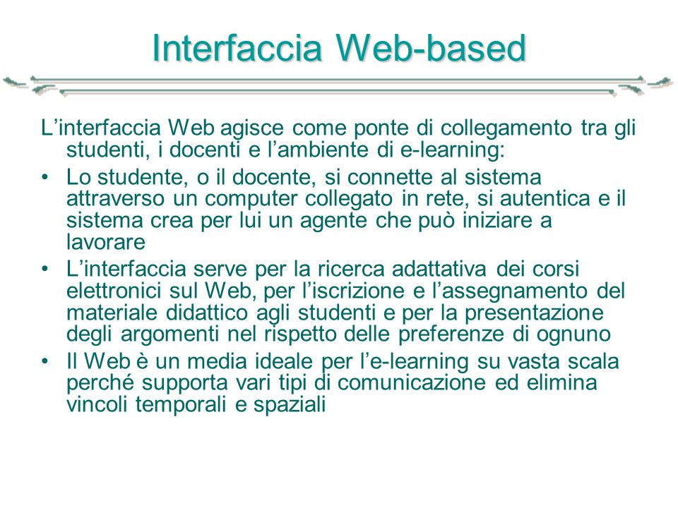 Interfaccia Web-based