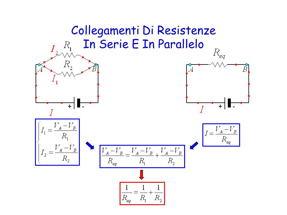 Collegamenti Di Resistenze In Serie E In Parallelo