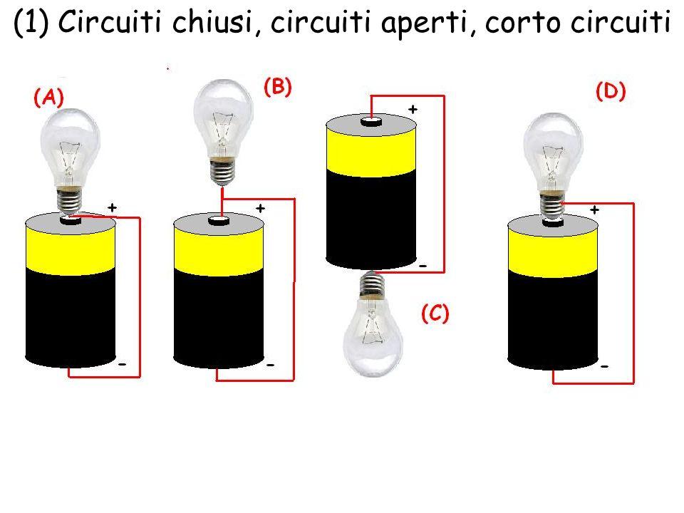 (1) Circuiti chiusi, circuiti aperti, corto circuiti