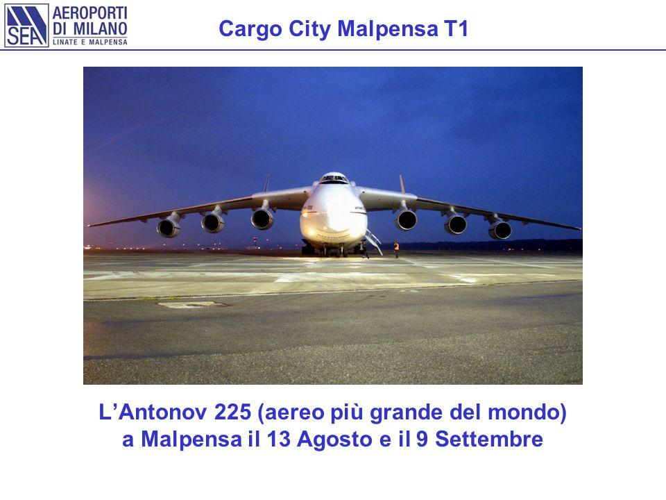Cargo City Malpensa T1 L'Antonov 225 (aereo più grande del mondo) a Malpensa il 13 Agosto e il 9 Settembre.