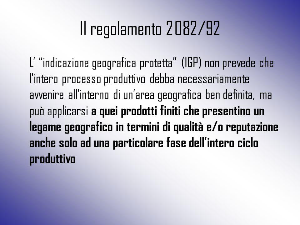 Il regolamento 2082/92