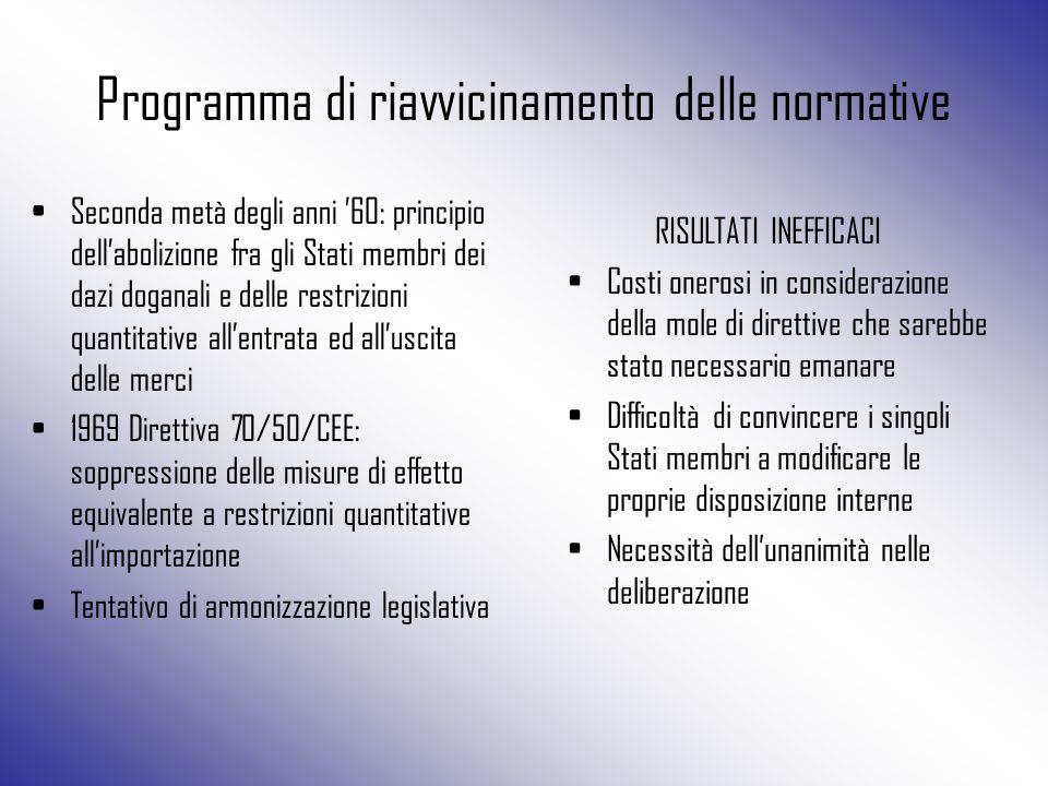 Programma di riavvicinamento delle normative