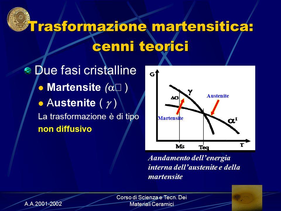 Trasformazione martensitica: cenni teorici