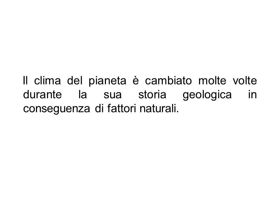Il clima del pianeta è cambiato molte volte durante la sua storia geologica in conseguenza di fattori naturali.