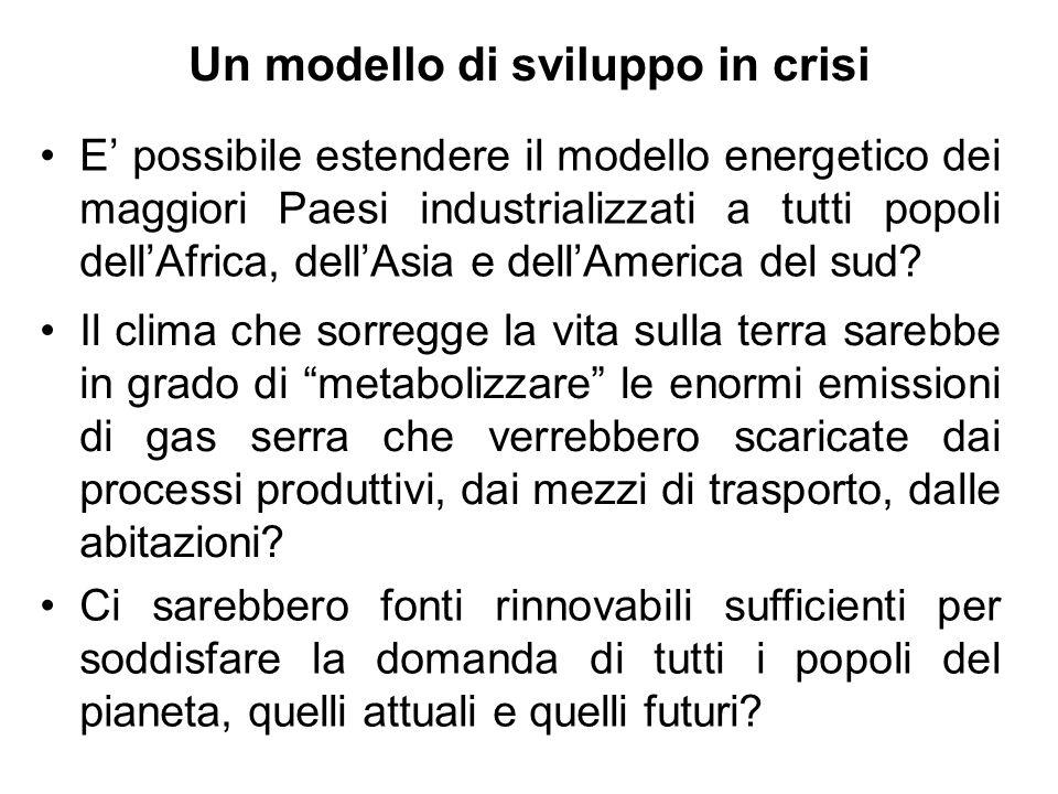 Un modello di sviluppo in crisi