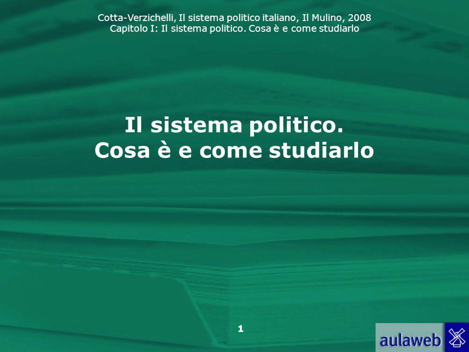 Il sistema politico. Cosa è e come studiarlo