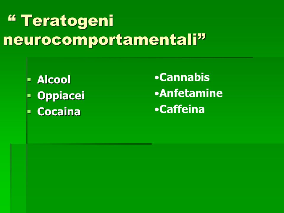 Teratogeni neurocomportamentali