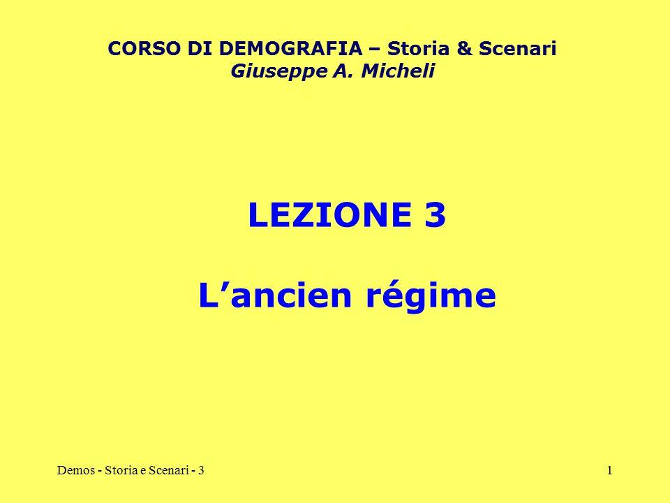 CORSO DI DEMOGRAFIA – Storia & Scenari