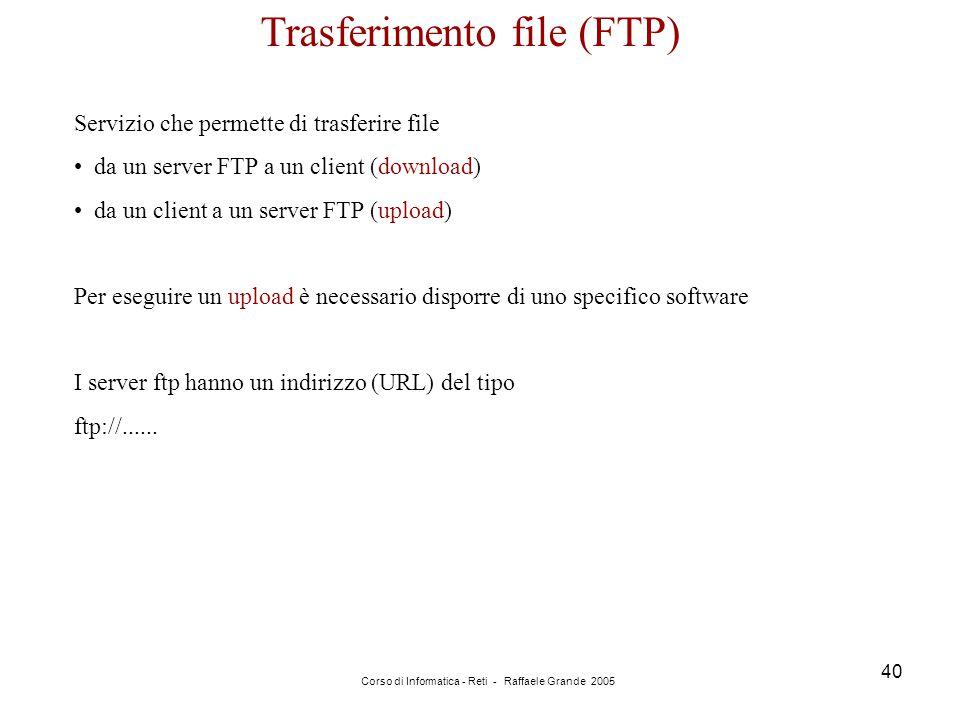 Trasferimento file (FTP)