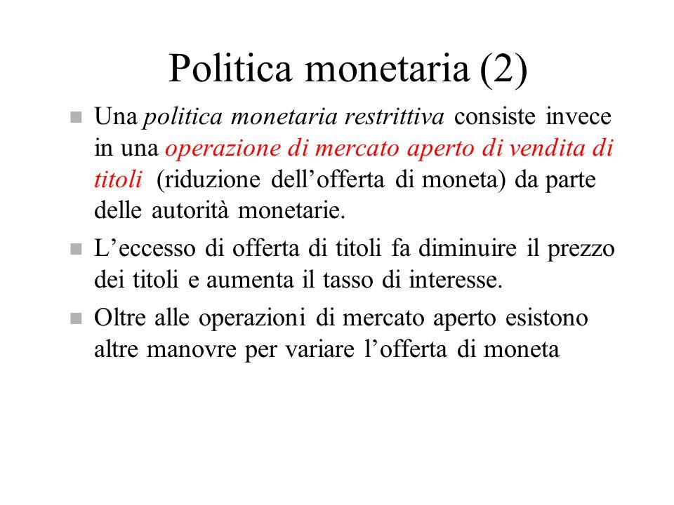 Politica monetaria (2)