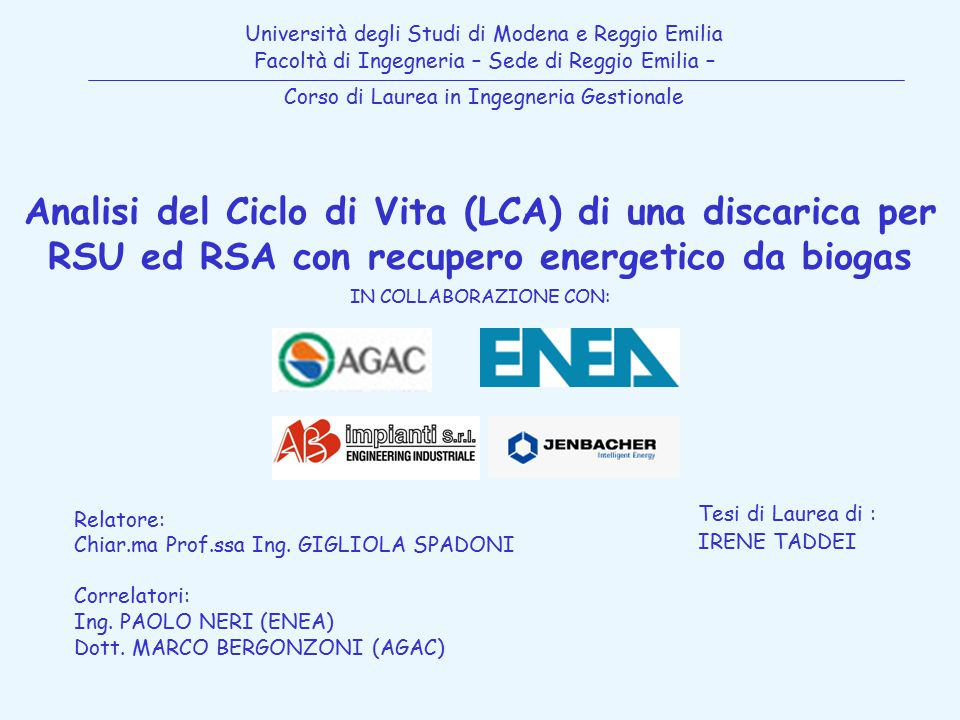 Università degli Studi di Modena e Reggio Emilia