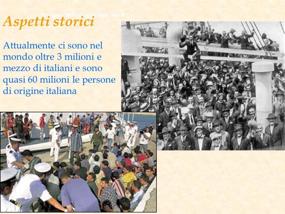 Aspetti storici 19 maggio 2006 – I Colori della Salute.