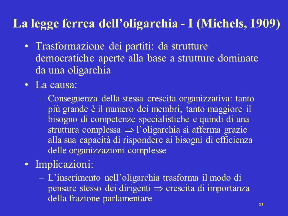 La legge ferrea dell'oligarchia - I (Michels, 1909)