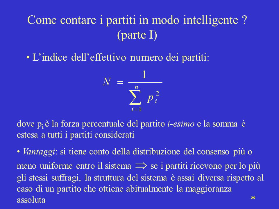 Come contare i partiti in modo intelligente (parte I)