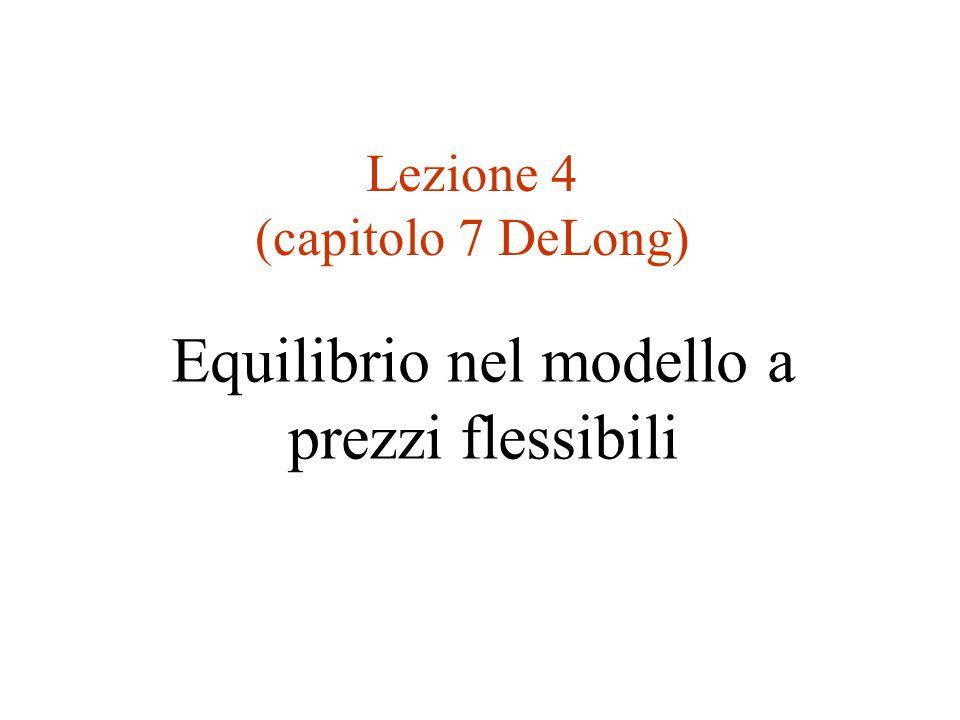 Lezione 4 (capitolo 7 DeLong)