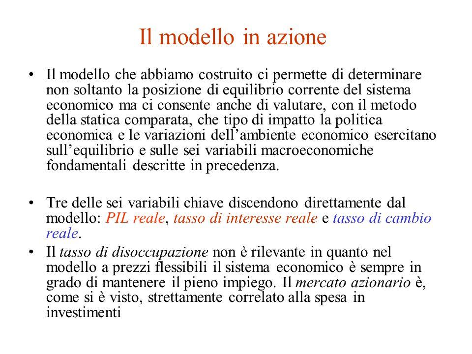 Il modello in azione