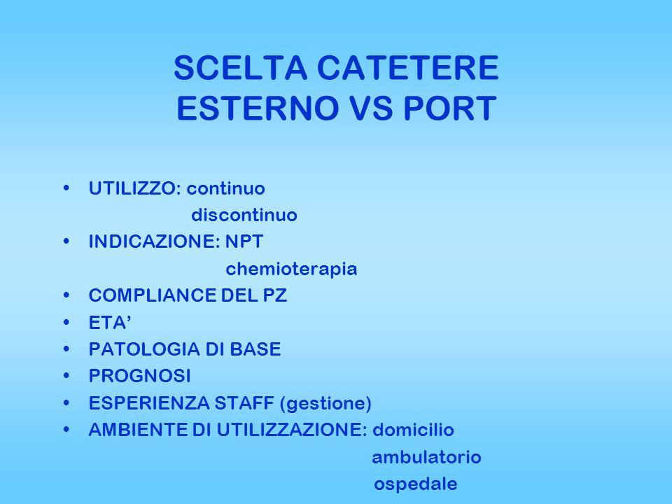 SCELTA CATETERE ESTERNO VS PORT