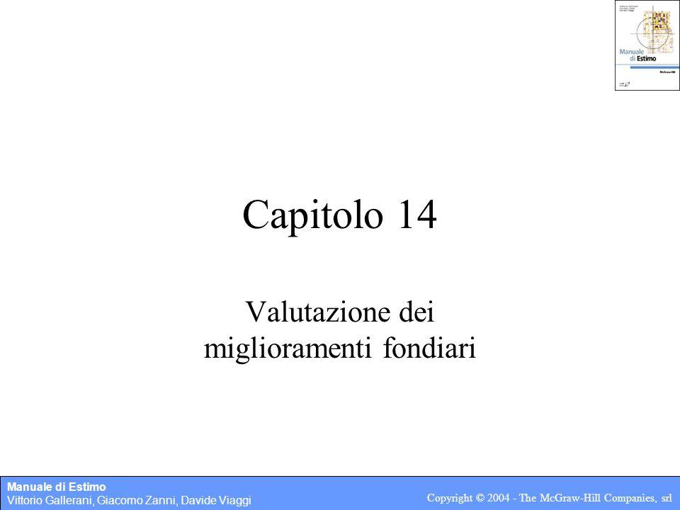 Valutazione dei miglioramenti fondiari