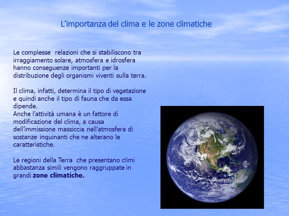 L'importanza del clima e le zone climatiche