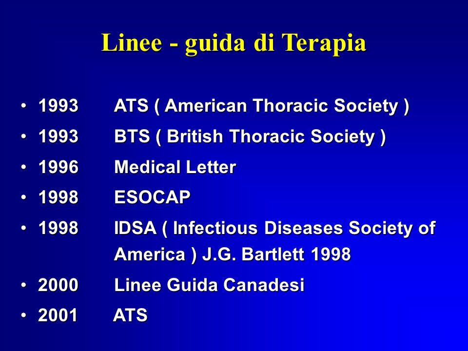 Linee - guida di Terapia