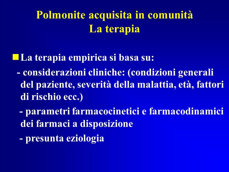 Polmonite acquisita in comunità La terapia