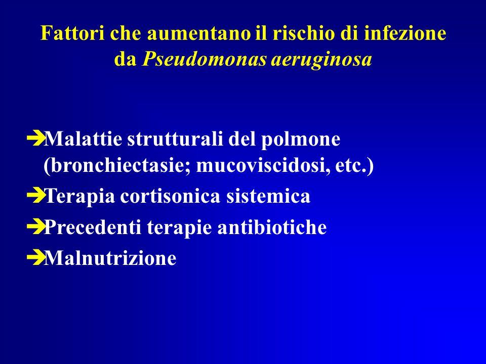 Fattori che aumentano il rischio di infezione da Pseudomonas aeruginosa
