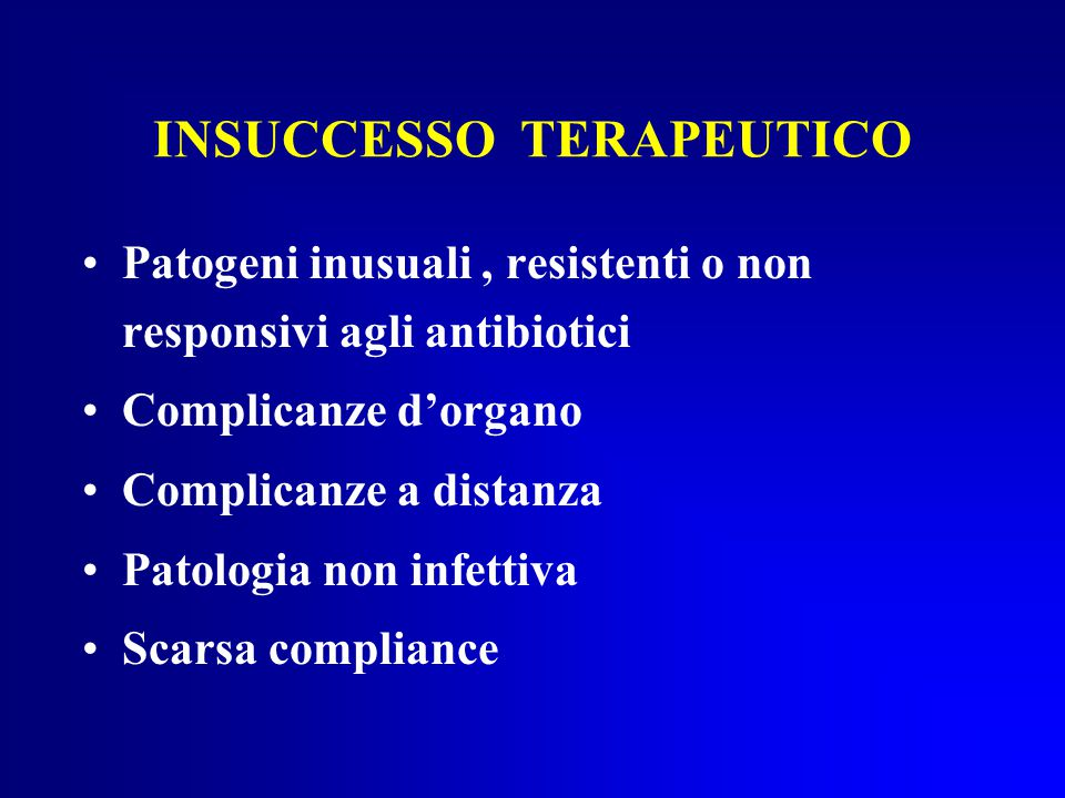 INSUCCESSO TERAPEUTICO
