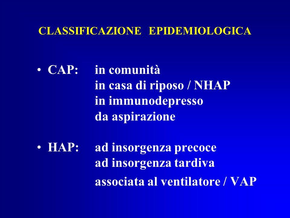 CLASSIFICAZIONE EPIDEMIOLOGICA