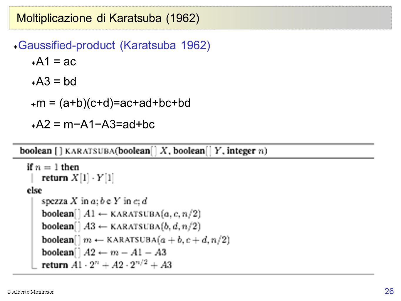 Moltiplicazione di Karatsuba (1962)