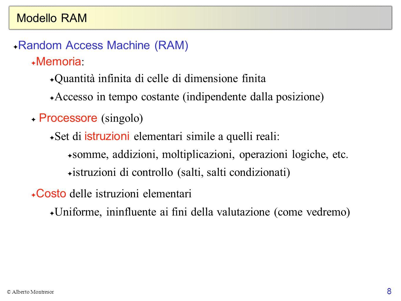 Random Access Machine (RAM) Memoria:
