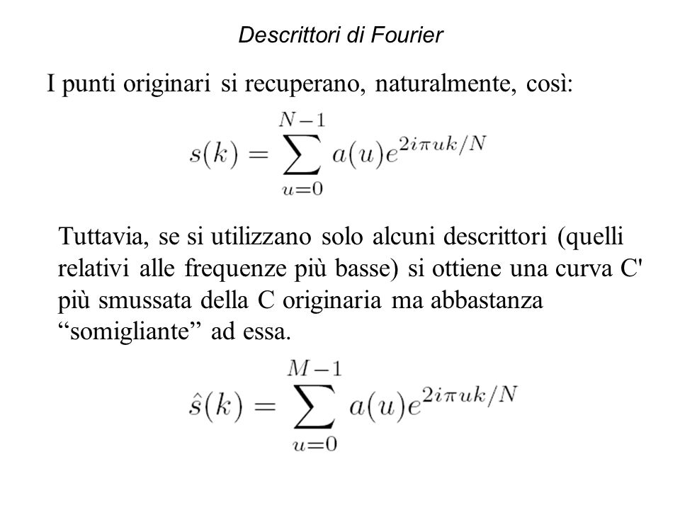 Descrittori di Fourier