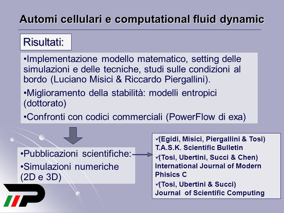Automi cellulari e computational fluid dynamic
