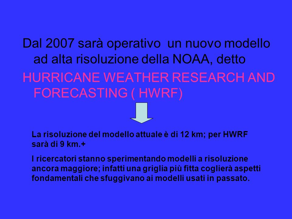 HURRICANE WEATHER RESEARCH AND FORECASTING ( HWRF)