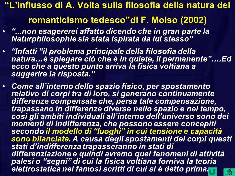 L'influsso di A. Volta sulla filosofia della natura del romanticismo tedesco di F. Moiso (2002)