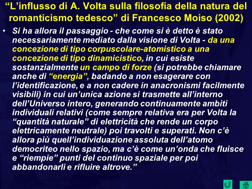 L'influsso di A. Volta sulla filosofia della natura del romanticismo tedesco di Francesco Moiso (2002)