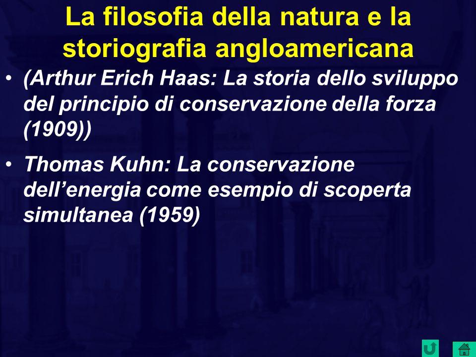 La filosofia della natura e la storiografia angloamericana