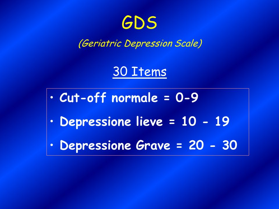 (Geriatric Depression Scale)