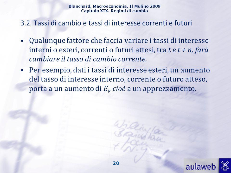 3.2. Tassi di cambio e tassi di interesse correnti e futuri