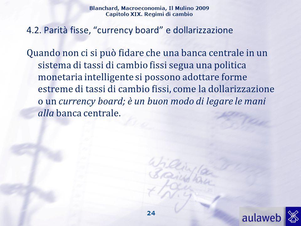 4.2. Parità fisse, currency board e dollarizzazione