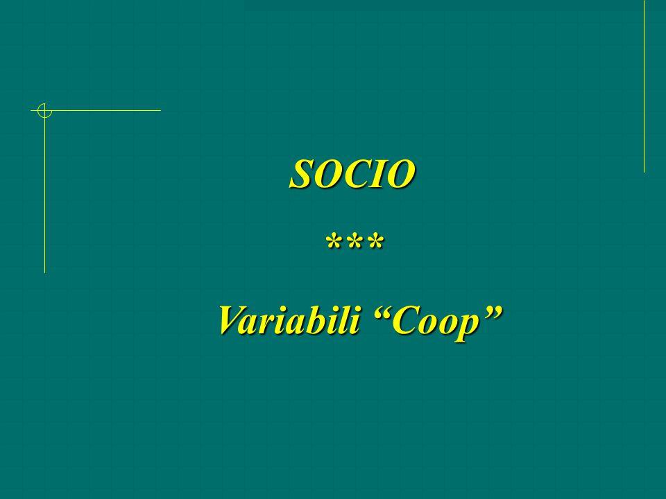 SOCIO *** Variabili Coop