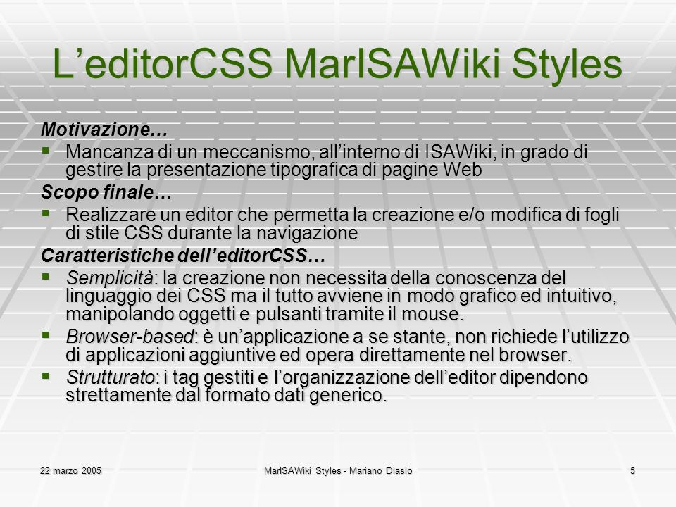 L'editorCSS MarISAWiki Styles