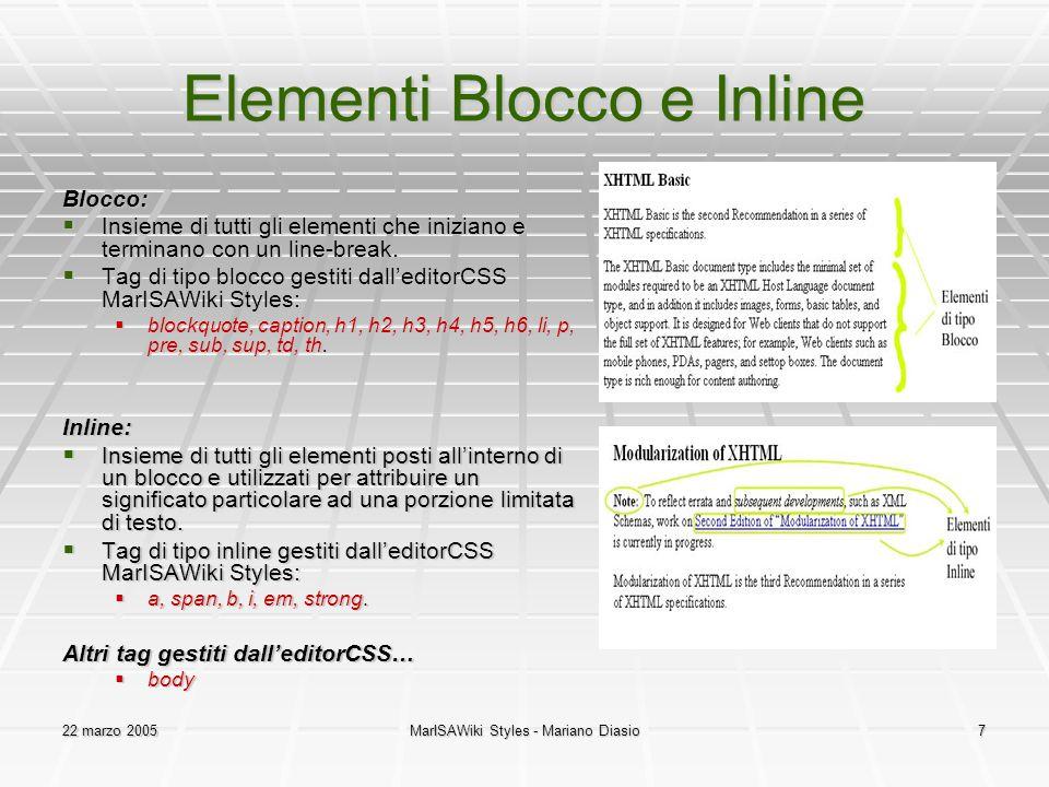 Elementi Blocco e Inline