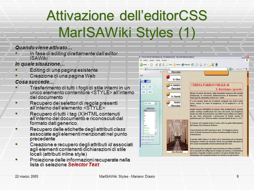 Attivazione dell'editorCSS MarISAWiki Styles (1)