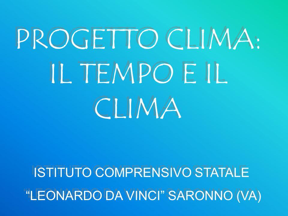 PROGETTO CLIMA: IL TEMPO E IL CLIMA