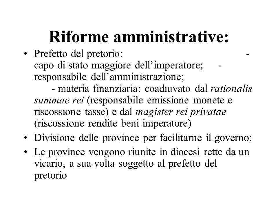Riforme amministrative: