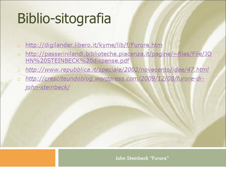 Biblio-sitografia http://digilander.libero.it/kyme/lib/f/Furore.htm