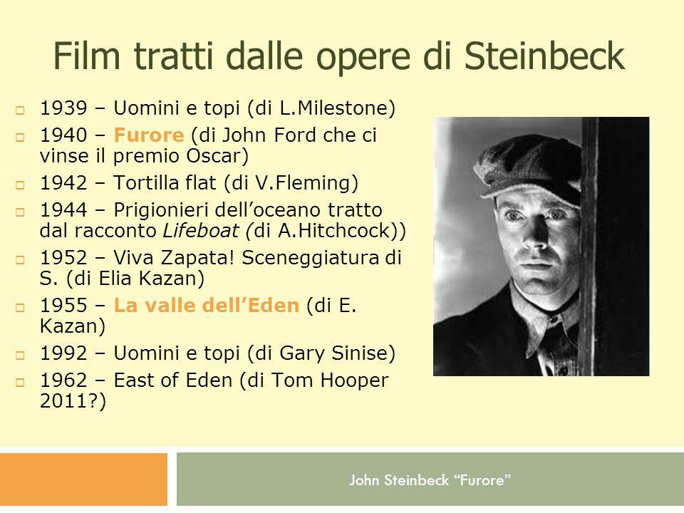 Film tratti dalle opere di Steinbeck