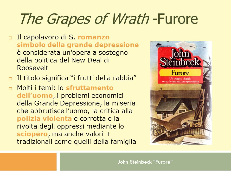 The Grapes of Wrath -Furore